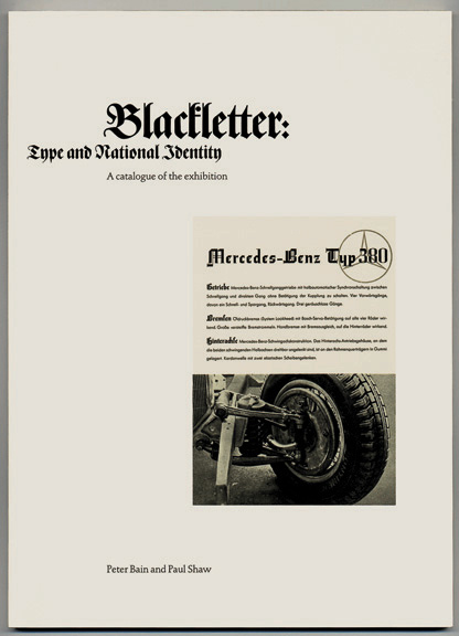 Blackletter: Type and National Identity